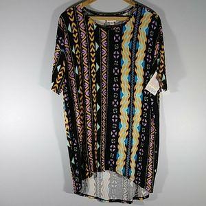 NWT LuLaRoe  multicolor l design blouse Sz XXS